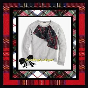 NWT, JCrew Tartan Ruffle Sweatshirt